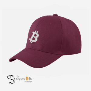 Bitcoin B Cap (Maroon)