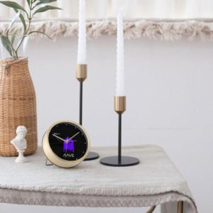 Aave Black Table Clock