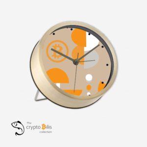 BTC Abstract Table Clock