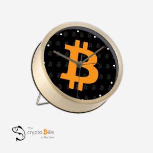 BTC Black Table Clock