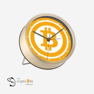 BTC Gold Table Clock