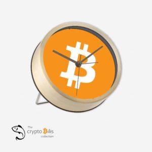 BTC Logo Table Clock