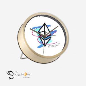 Ethereum Art Table Clock