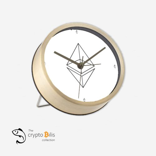 Ethereum Wireframe Table Clock 2