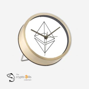 Ethereum Wireframe Table Clock