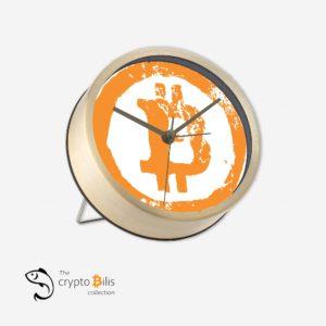 BTC Grunge Table Clock