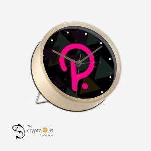 Polka Black Table Clock
